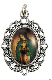 Our Lady of Guadalupe Decorative Color Medal