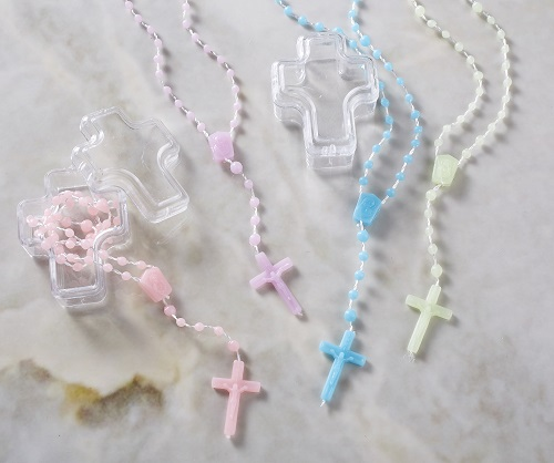 Cross Plastic Rosary in Case