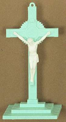 Molded Baby Room Crucifixes, blue