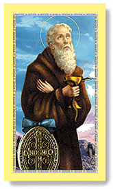 St. Benedict Paper Holy Card