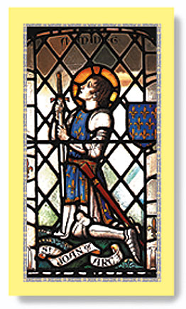 St. Joan of Arc paper holy card