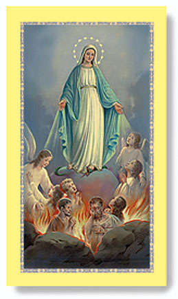 Purgatory Paper Holy Card