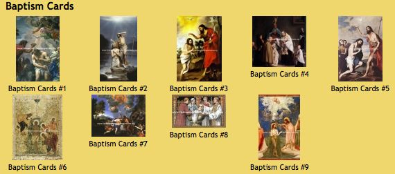 Custom Printed Baptism Holy Cards