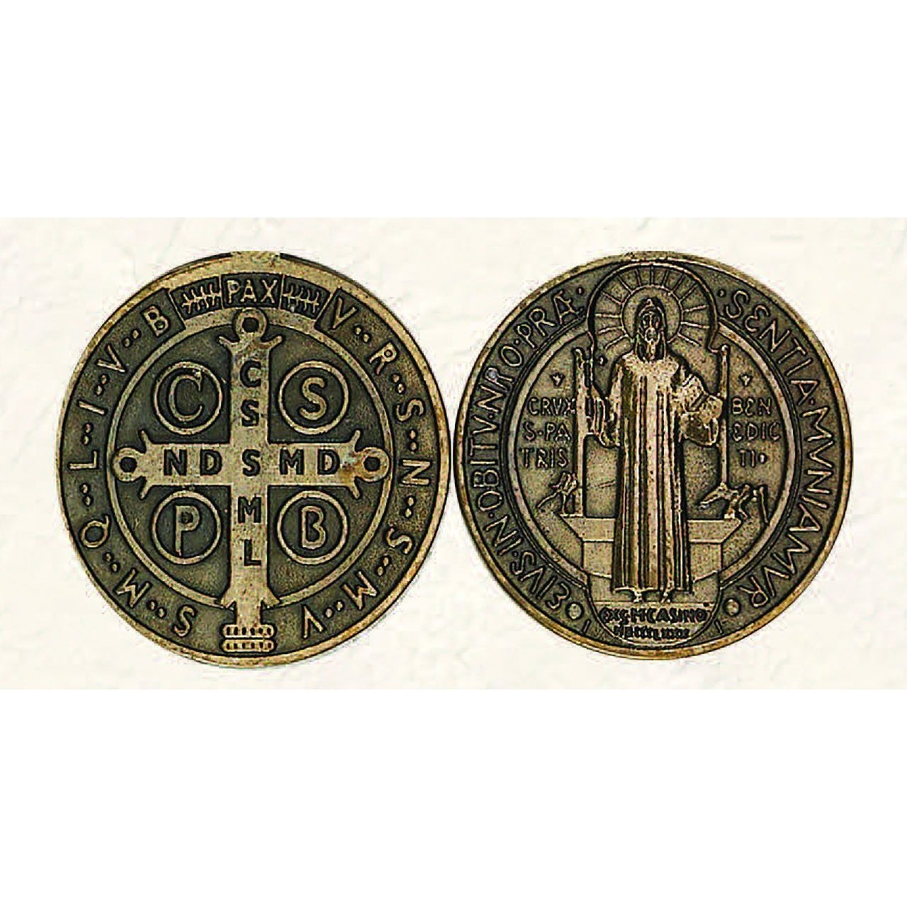 St. Benedict Brass Pocket Coin