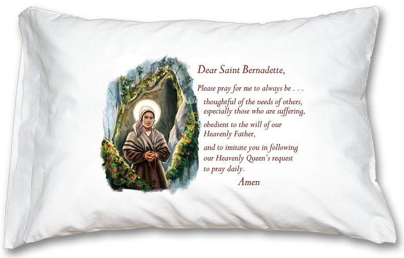 St. Bernadette Prayer Pillowcase