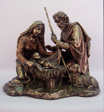 Large Holy Family Bronze Statue