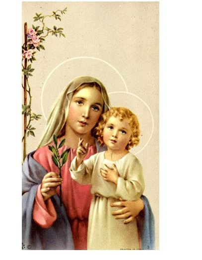 Value Priced Madonna and Child Paper holy card