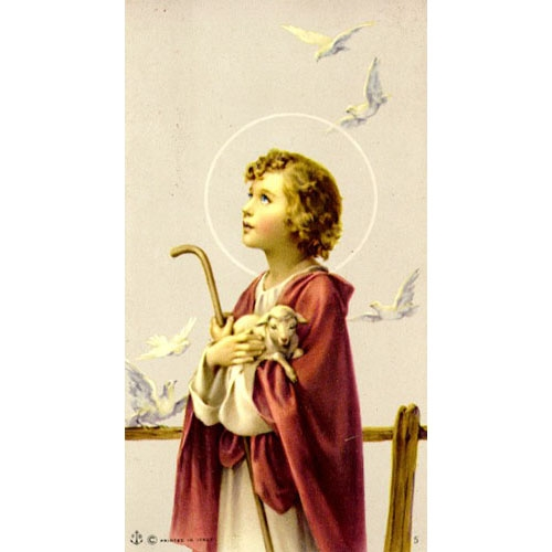Value Priced Boy John the Baptist with Lamb paper holy card