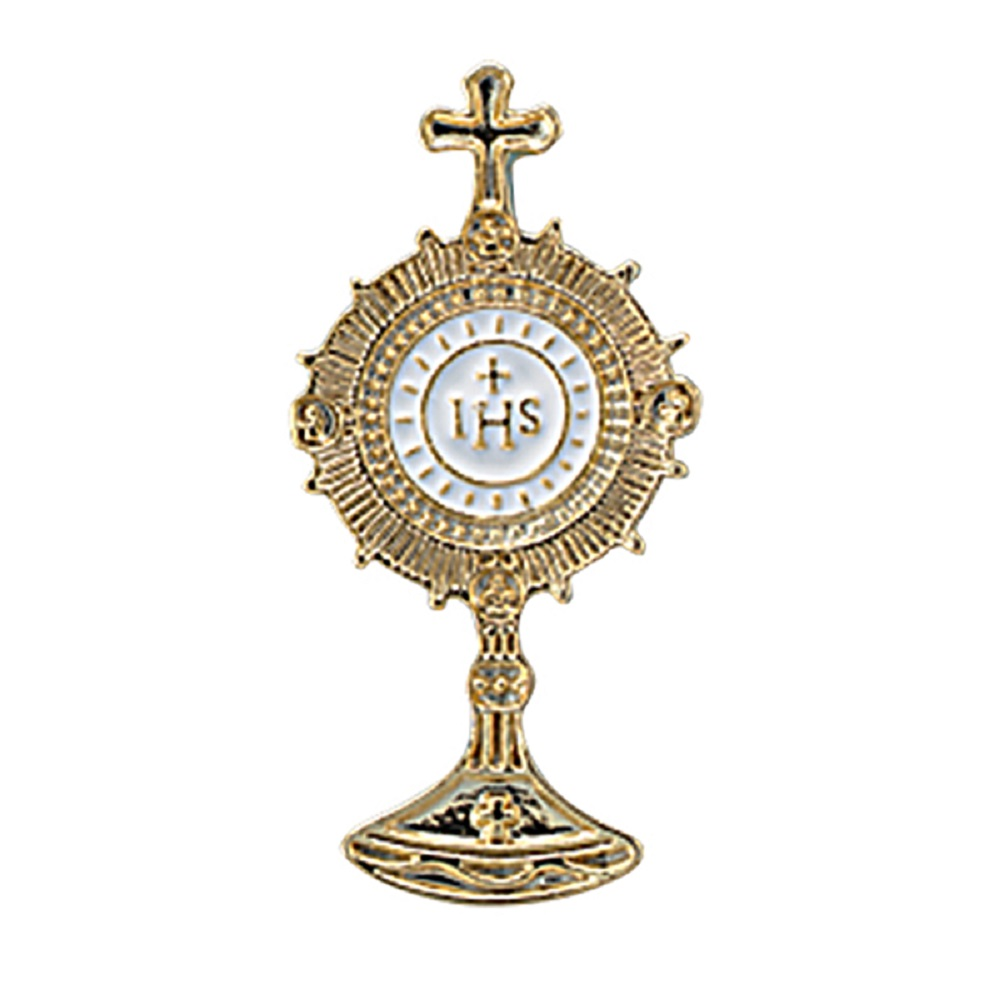 Monstrance Pin w/ Inlaid enamel