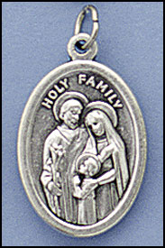 Holy Family medal on chain