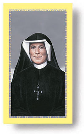 St. Faustina Paper holy card