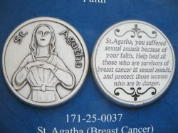 St. Agatha pocket coins