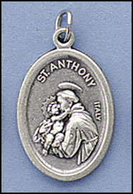 Oxidized Patron Saint Medals, Anthony