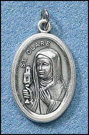 St. Clare relic medal