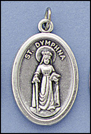 New - St. Dymphna Relic medal
