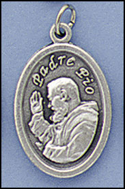 St. Padre Pio relic medal