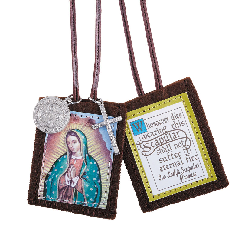 Brown Guadalupe scapular
