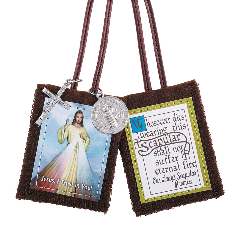Divine Mercy Scapular with medals