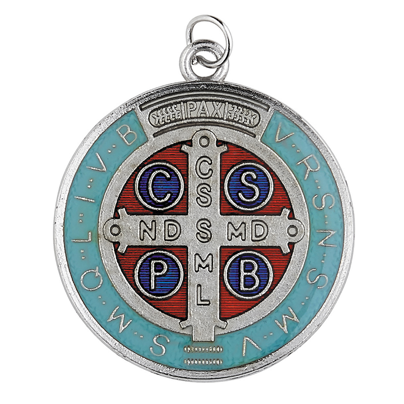 Colored St. Benedict Medallion - Limit 1 per order!