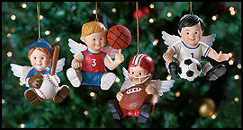 Christmas Sports Angel Ornaments!