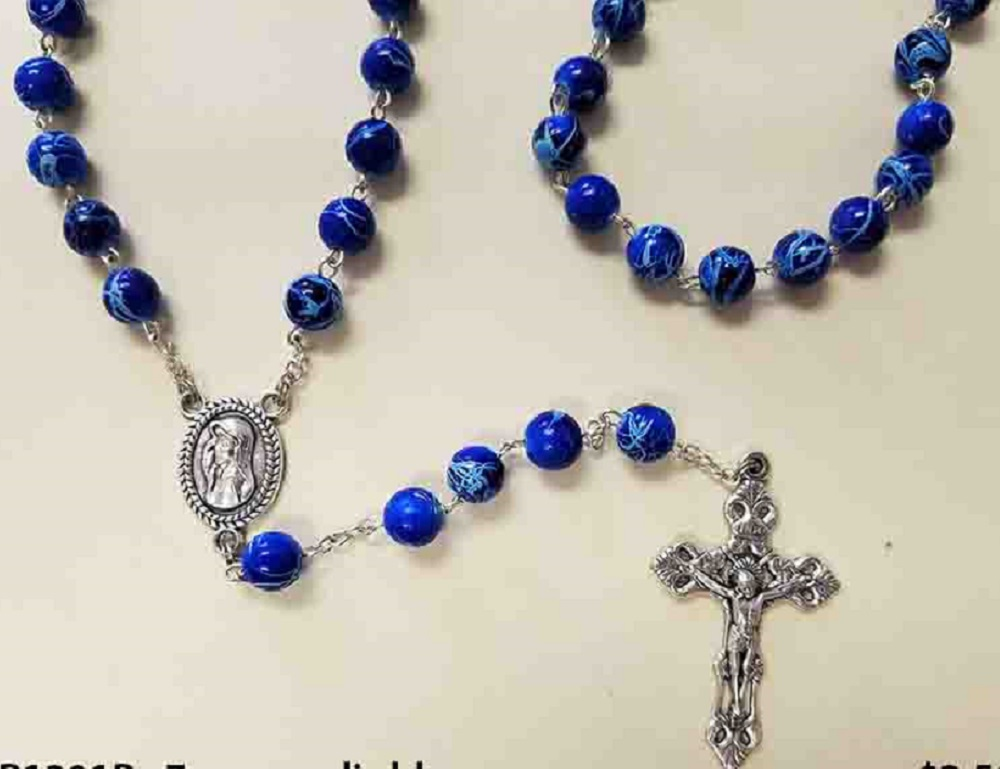 Blue Gemstone Rosary