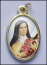 Gold St. Therese medal