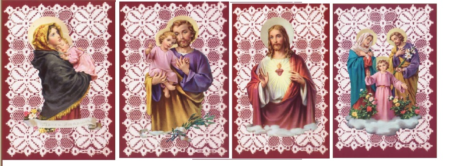 Traditional Holy Card with Blank Back (12 Asst) - 100pk