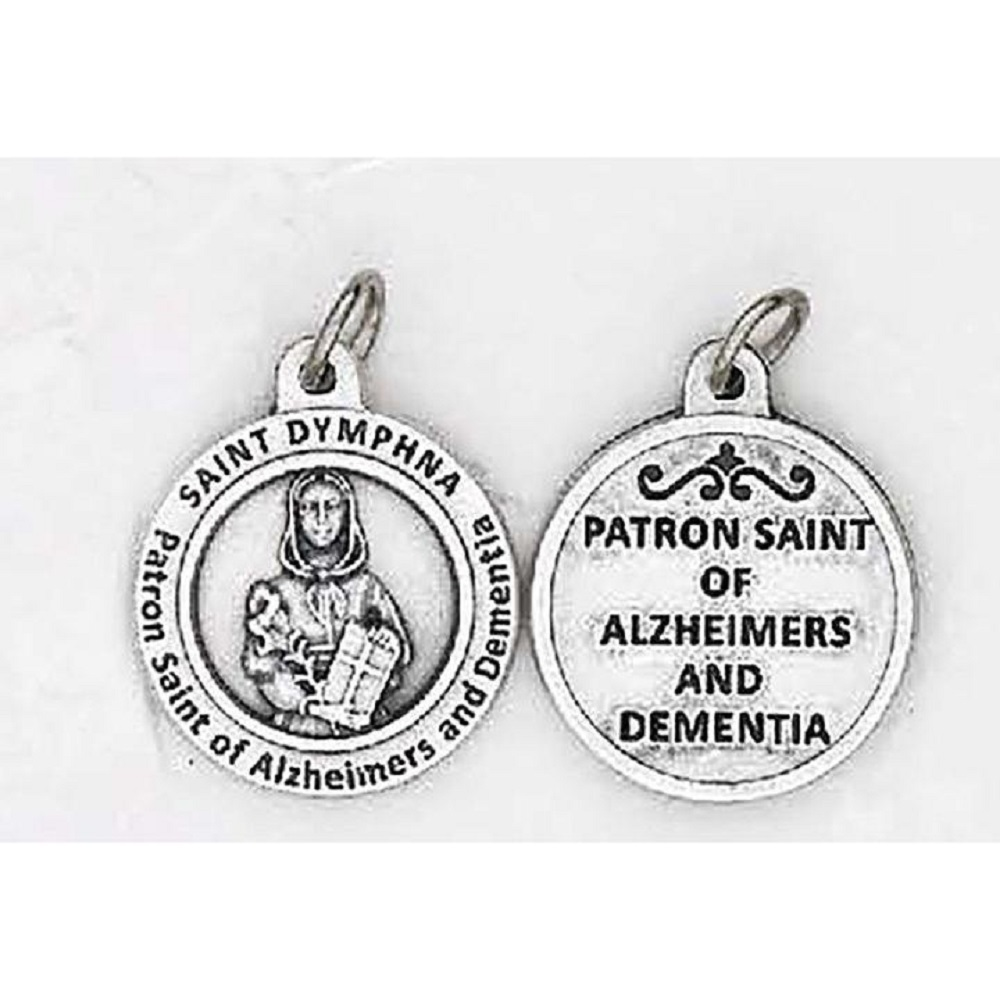 St. Dymphna Round Medal for Healing Alzheimers and Dementia