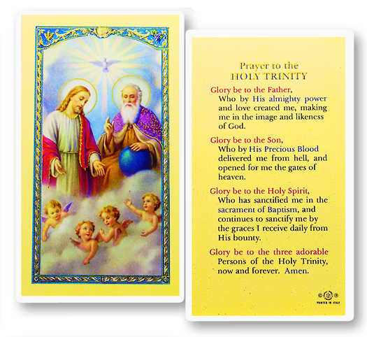 Holy Trinity w/ Apostle's Creed laminated holy card