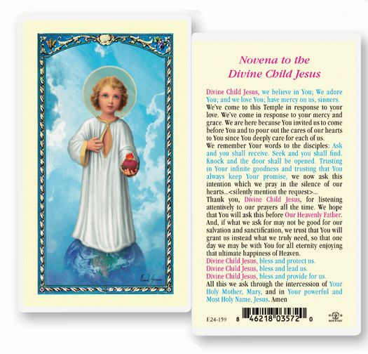 Divine Child Laminated Holy Card