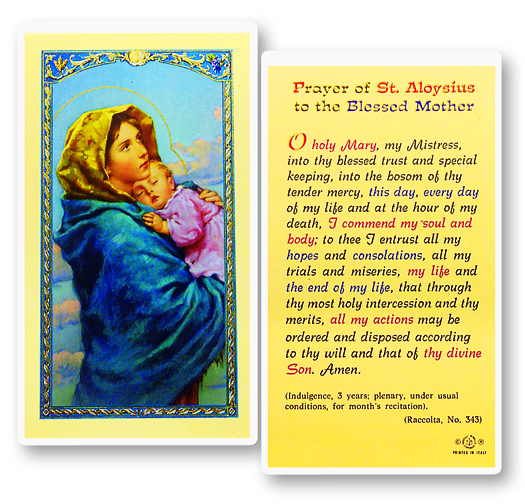 Madonna of the Streets laminated holy card