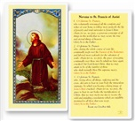 St. Francis Laminated Holy Card
