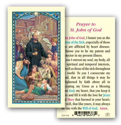 St. John of God Laminated Holy Card