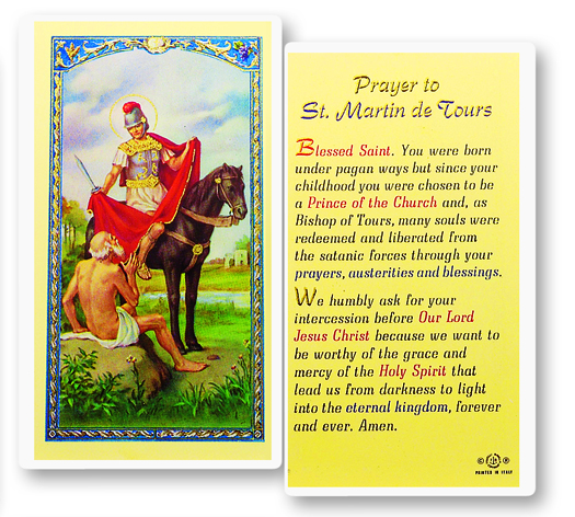 St. Martin Caballero, laminated holy card