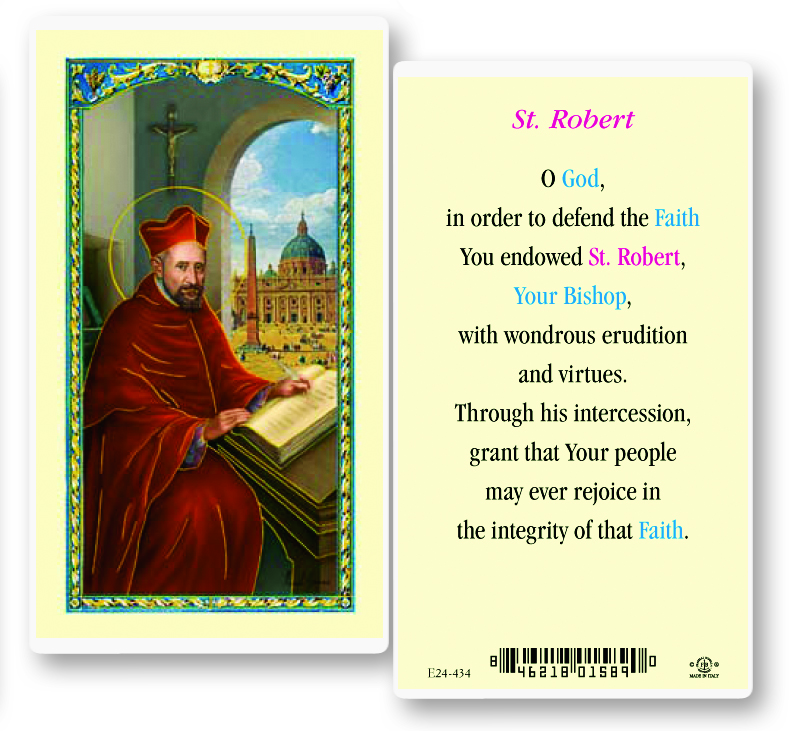 St. Robert laminated holy card