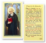 St. Benedict Laminated Holy Card