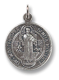 Pewter St. Benedict's medal