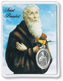 Card with encased Medal, St. Benedict