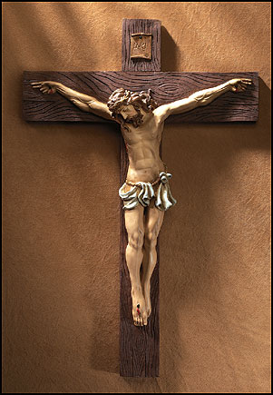 Large 31 inch wall crucifix