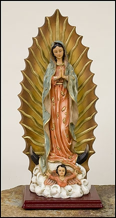 Our Lady of Guadalupe full color resin statue