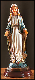 Our Lady of Grace 8 Inch Color statue