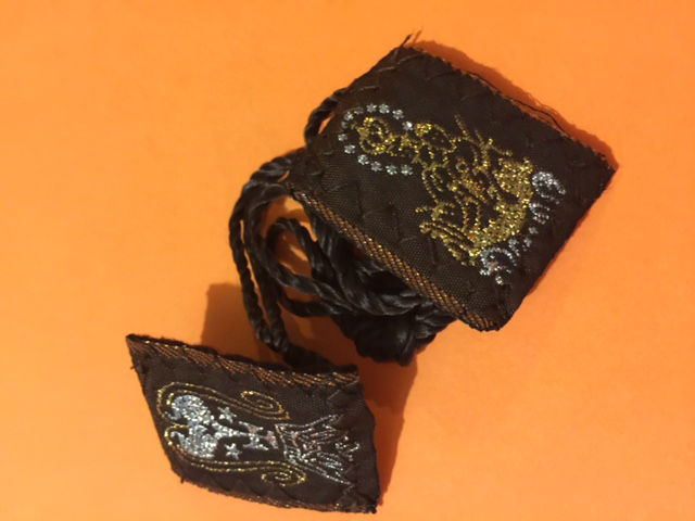 Embroidered Brown Scapular from Mexico