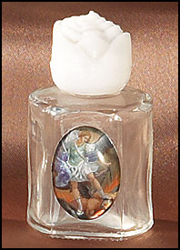 St. MIchael Glass Holy Water bottle