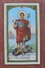 St. Expedite laminated holy card