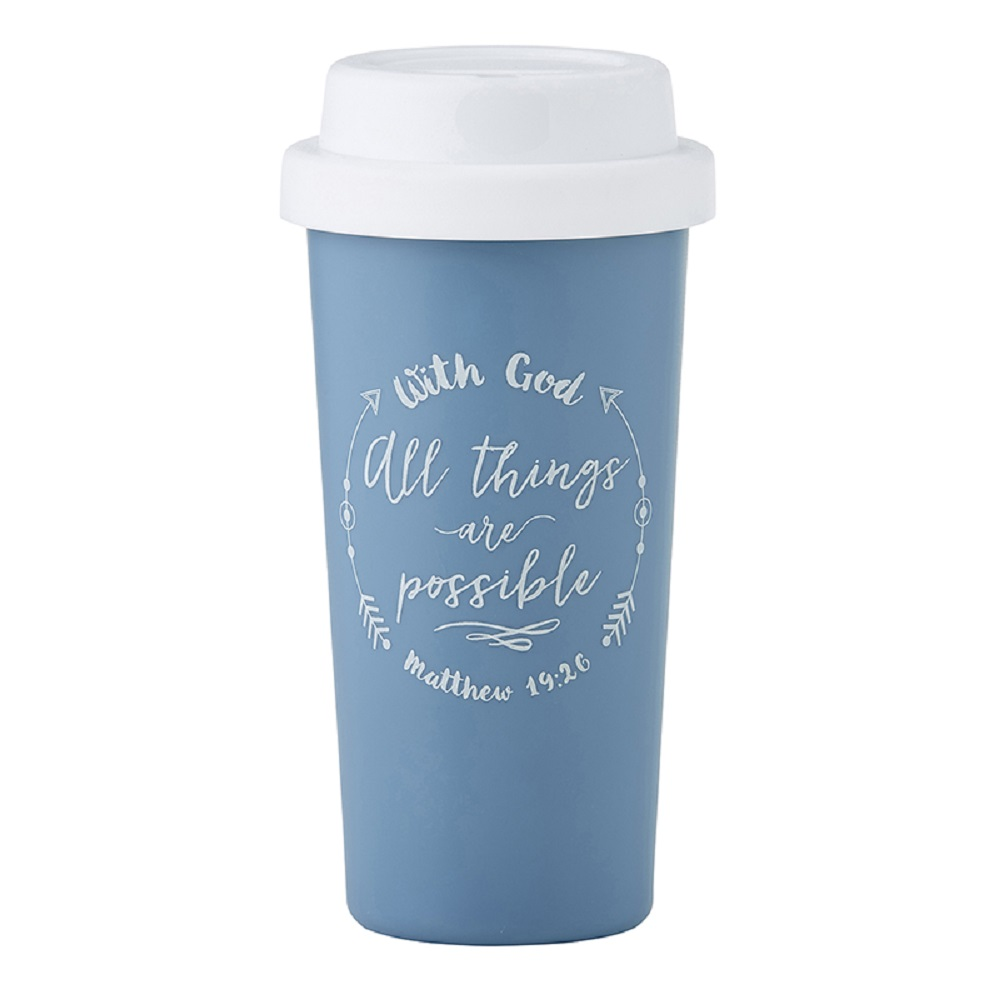 With God All Things are Possible Double Wall Tumbler