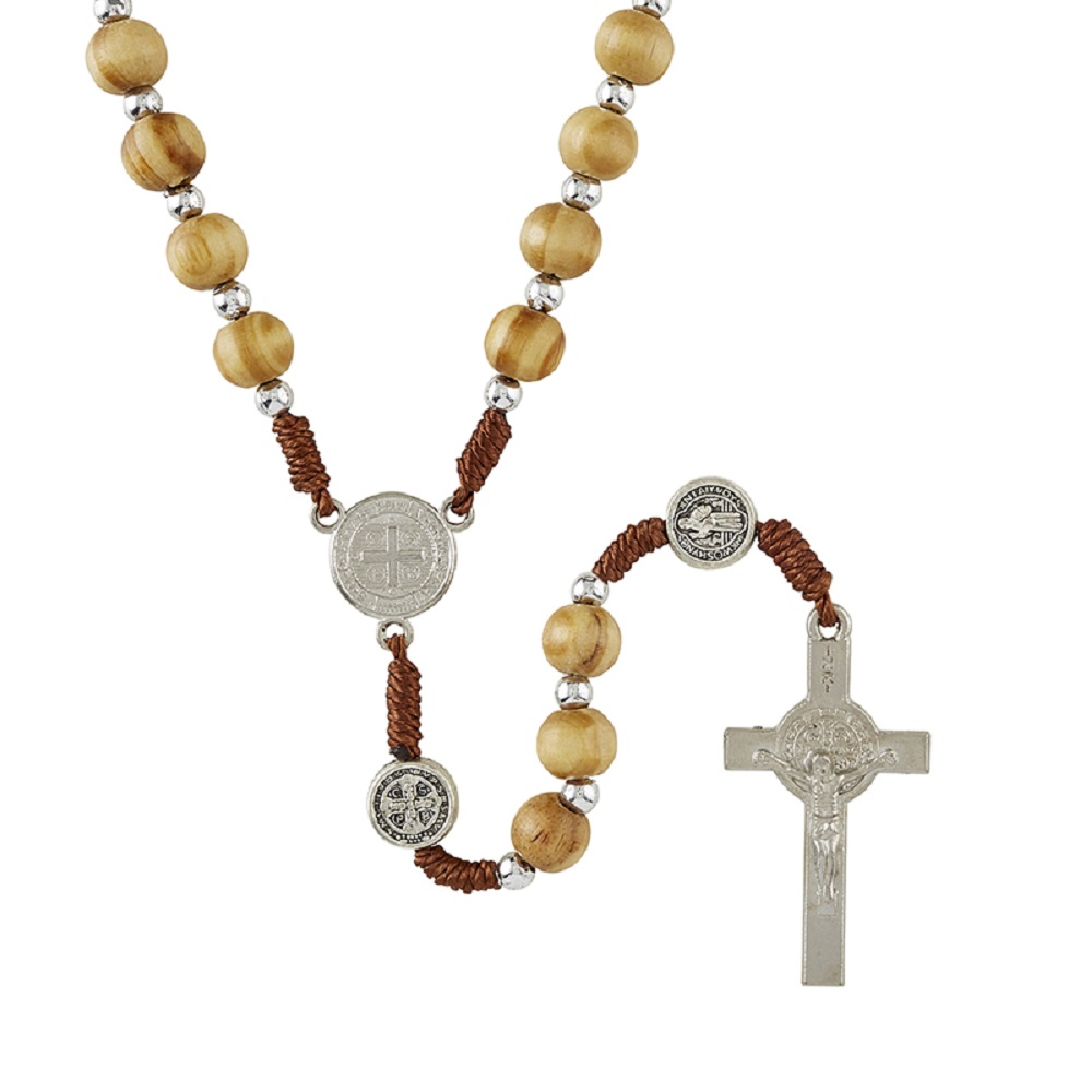 Olive Wood Benedict Rosary