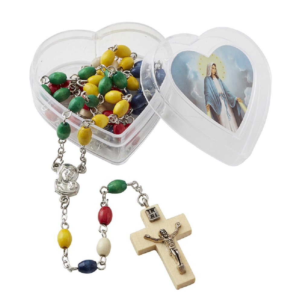 Mission rosary in case