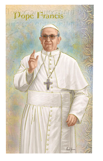Pope Francis Lives of the Saints card