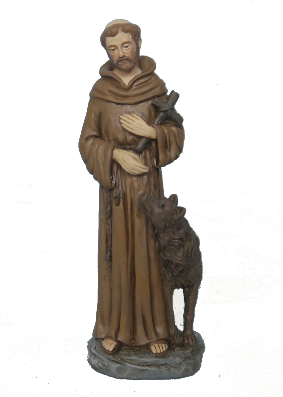St. Francis 4 inch resin statue in box