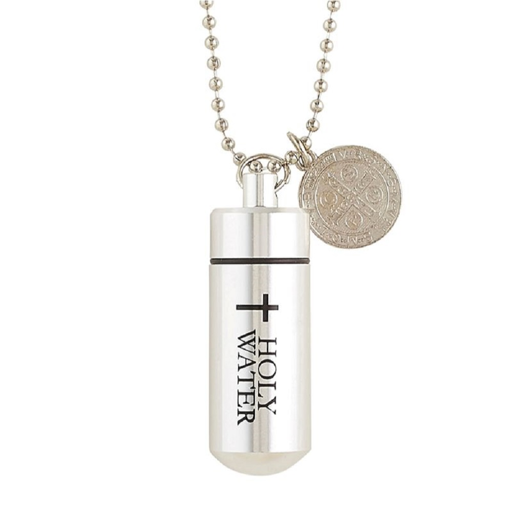 St. Benedict Holy Water vial Pendant
